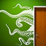Tentacles Wall Decal Kraken Octopus Tentacles Wall Sticker Sea Animal Wall Decal Mural Home Art Decor White