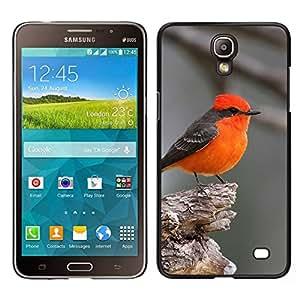 // PHONE CASE GIFT // Duro Estuche protector PC Cáscara Plástico Carcasa Funda Hard Protective Case for Samsung Galaxy Mega 2 / red bird songbird grey cute small tiny /