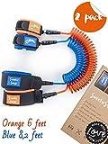 SweetieSnugs Safety Harness for Kids | 2 Pack | Girl or Boy Children Leash | Child Wrist Link | Orange & Blue | Toddler Traffic Leash | Leash for Kids | Child Wrist Leash or Harness