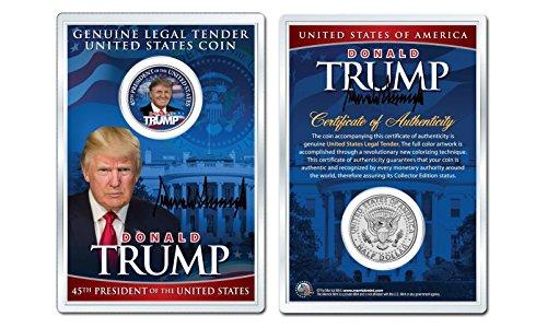 President Half Dollar Coin - DONALD J. TRUMP 45th President WHITEHOUSE JFK Half Dollar Coin in PREMIUM HOLDER