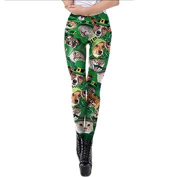 ZGDGG St.Patricks Day Leggings Disfraz de Mujer Pantalones ...