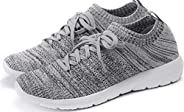 PromArder Women's Walking Shoes Slip On Athletic Running Sneakers Knit Mesh Comfortable Work
