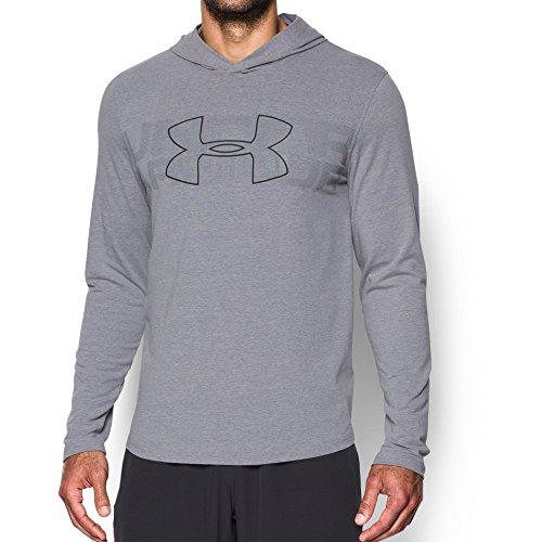 (Under Armour Men's Sportstyle Stretch Hoodie,Steel Light Heather (035)/Black, X-Large)