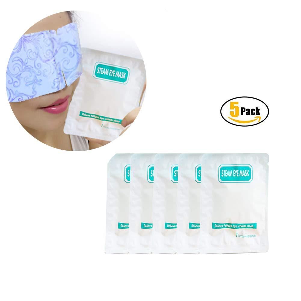 Allbesta 5 Stück/Set Dampf-Augenmaske Relax Moisturizing Gentle Eye Skin Fatigue Remove Wrinkles Dark Circle Eye Bags Help Sleep