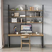 Office Desk, Writing Desk, American Solid Wood Desk, Bookshelf, Computer Desk, Household