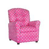 Brazil Furniture 400-polka dot Candy Pink Children's Button Back Recliner, Polka