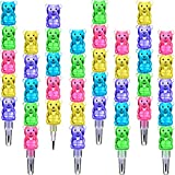 30 Pieces Stackable Pencils Plastic Bear Pencils 5 in 1 Stacking Colored Pencils Party Favors for Birthday Party Supplies