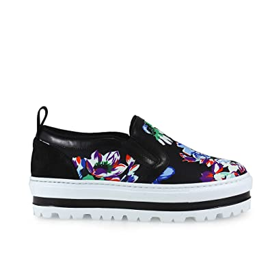 Msgm Fleur Multicouleur Baskets Open-Up Multicolor - Chaussures Slips on Femme