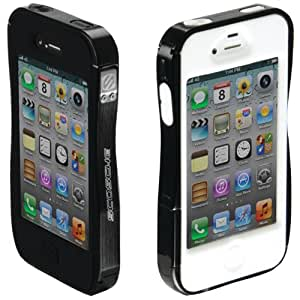 Scosche IP4RBK Railkase Shock Absorbent Aluminum and Silicone Case for iPhone 4S and 4, 2-Pack, Black