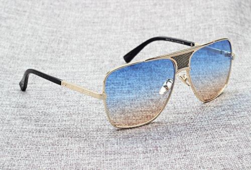 homme en Aprigy Design Lunettes Mode Lunettes Marque métallique alliage Gradient Cadre pour Matador soleil soleil de 8 de Aviator wAPqrEw