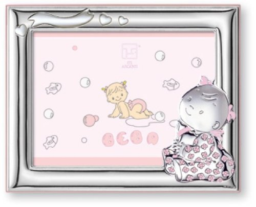 English Sterling Silver Art - Silver Touch USA Sterling Silver Picture Frame, Baby Girl, 4
