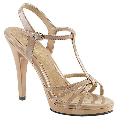 Plateau Flair Da Alto strap Patent T Sandali Tacco 420 Donna Pleaserusa Con Nude zxw5Y1wq