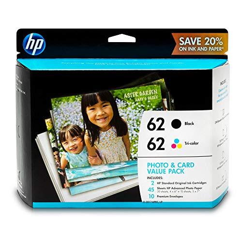 HP K3W67AN 62 Black & Tri-Color Original Ink Cartridges with