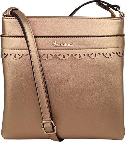 Handbag Vegan B Bronze BRENTANO Crossbody Medium Purse azawSIq