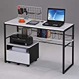 ACME Ellis Black and White Desk For Sale