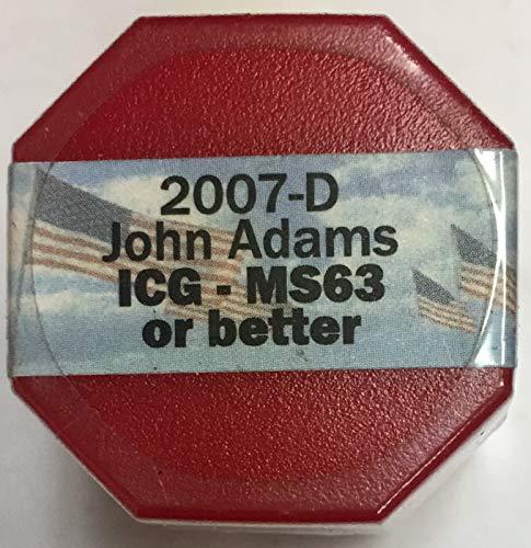 Adams Dollar Roll - 2007 D John Adams Presidential Sealed Roll of 20 Dollars MS-63