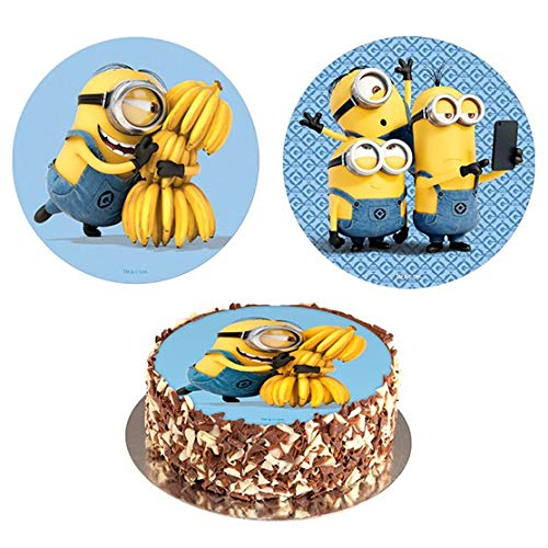 Minions Edible Image Cake Topper Wafer Disc 8'' ()