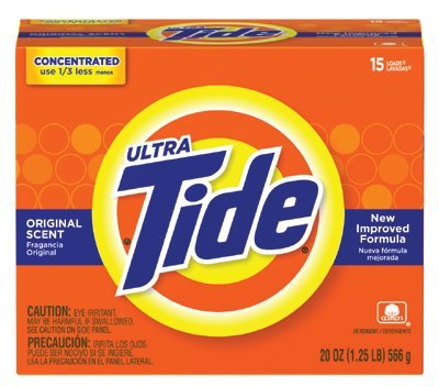 TIDE ULTRA POWDER 20 OZ.15 LOADS ORIGINAL SCENT, Sold as 1 CA by Procter & Gamble