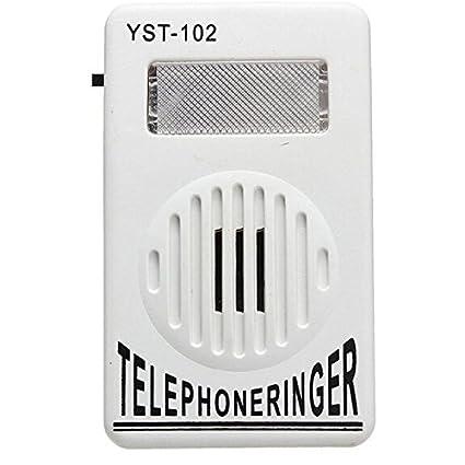 DiscoGoods 2 Pack Socket Loud Telephone Ring Speaker Bell Ringer And  Ringtone Amplifier 95db Volume Enhancer