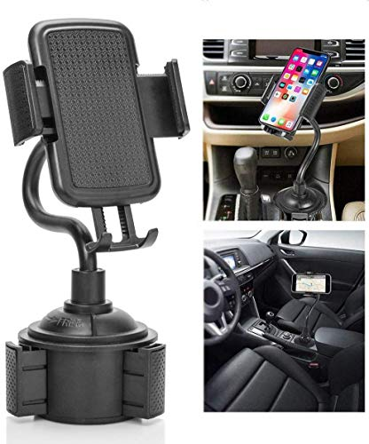 Galaxy Wireless Car Cup Holder Phone Mount with Neck & 360° Rotatable Cradle for iPhone 11 Pro Max 11 Pro 11 X XS Max XR 8 Plus 7 7+ 6s 6 SE, Samsung Galaxy Note 10/9/8/S20 Ultra/S20+/S20/S10 S9 S8 S7 from Galaxy Wireless