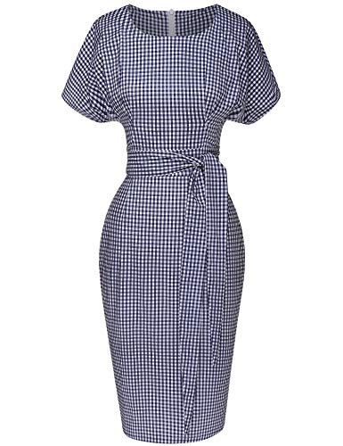 GownTown Women's 50s 60s Vintage Sexy Fitted Office Pencil Dress -