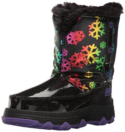 Khombu Kids' Joy Snow Boot - Black - 8 M US Toddler