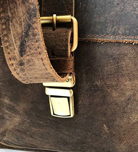 KomalC 16 Inch Buffalo Leather Briefcase 5