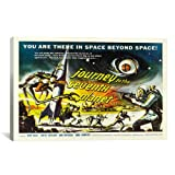 iCanvasART Journey to The Seventh Planet Vintage Movie Poster Canvas Art Print, 26 by 18-Inch