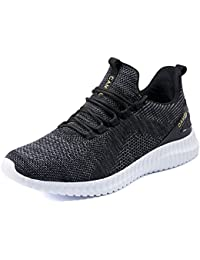 Men's Trail Running Shoes Lightweight Cushioning Breathable Athletic Sport Walking Sneakers for Gym Outdoor