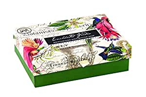 Michel Design Works Double Soap Bar Boxed Set, Enchanted Garden