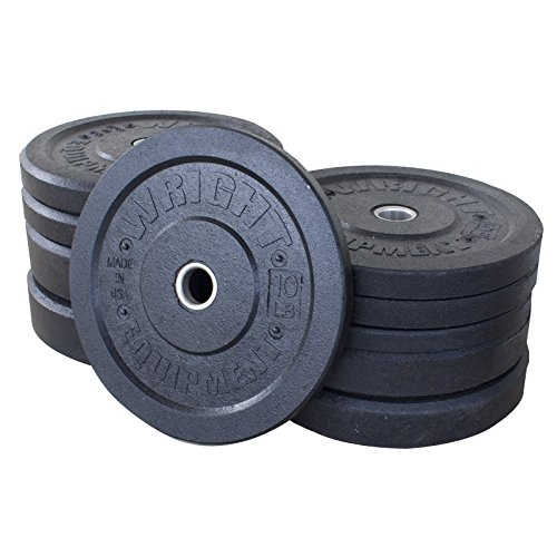 260lb Wright USA Crumb Bumper Plates Set by Wright Equipment