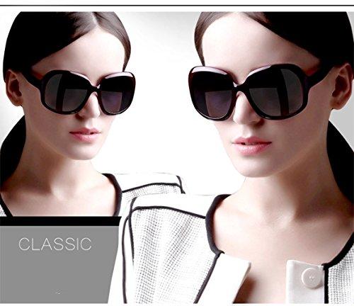 vintage Polarizado De ATTCL Marrón Mujer Oversized Sol Gafas Uv400 Protección gqCFP5w