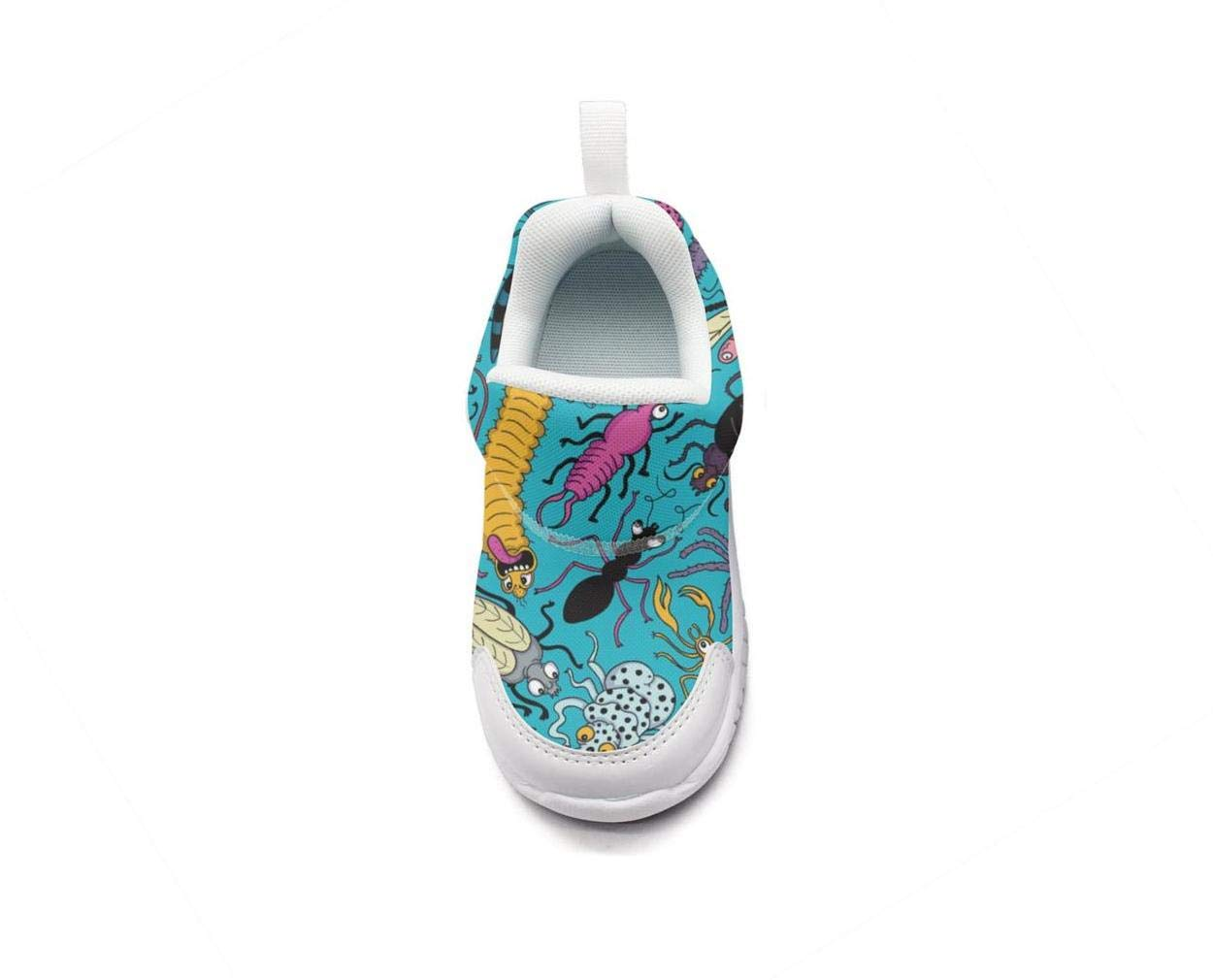 ONEYUAN Children Insects Caterpillars Bugs Patterns Kid Casual Lightweight Sport Shoes Sneakers Running Shoes
