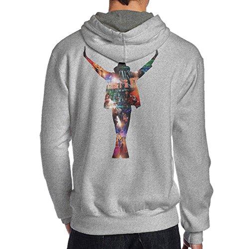[SEVEN 78 King Of Pop Michael Jersey Men's Hooded Sweatshirt XL Ash] (Billie Jean Costume Jacket)