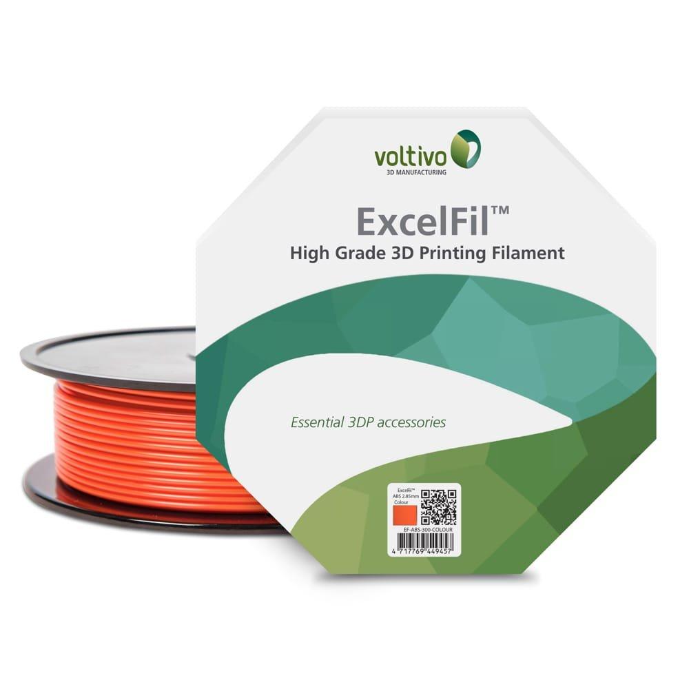 Voltivo ExcelFil PLA Signal Orange 2.85mm 3D Printing Filament (1kg/2.2lbs spool)