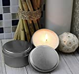 8-Ounce Candle Tins, Wicks & Wick Stickers (12-Pack); Round Metal Containers w/Wick Guide & Feet for Candle Making, Includes Wick Stickers & Wicks Too