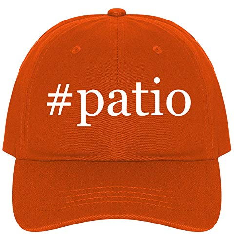 The Town Butler #Patio - A Nice Comfortable Adjustable Hashtag Dad Hat Cap, Orange