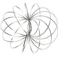 Flow Rings Magic Original Kinetic Spring Toy Stainless Steel Rings 3D Sculpture Ring fidget toys for Kids boys girls…