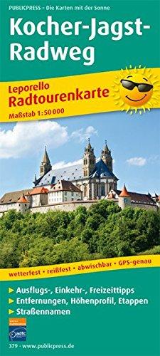 Kocher-Jagst-Radweg: Leporello Radtourenkarte mit Ausflugszielen, Einkehr- & Freizeittipps, wetterfest, reissfest, abwischbar, GPS-genau. 1:50000 (Leporello Radtourenkarte / LEP-RK) Landkarte – Folded Map, Oktober 2007 PUBLICPRESS 3899203798 Baden-Würt