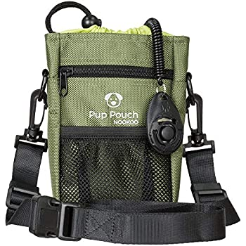 0f02cc4aa6 Dog Clicker Treat Walking Training Pouch Bag Bonus Clicker Trainer - Built- in Double Poop