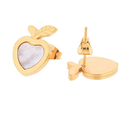 Dana Carrie Acero inoxidable de oro a su novia amor amor apple tornillos de oreja