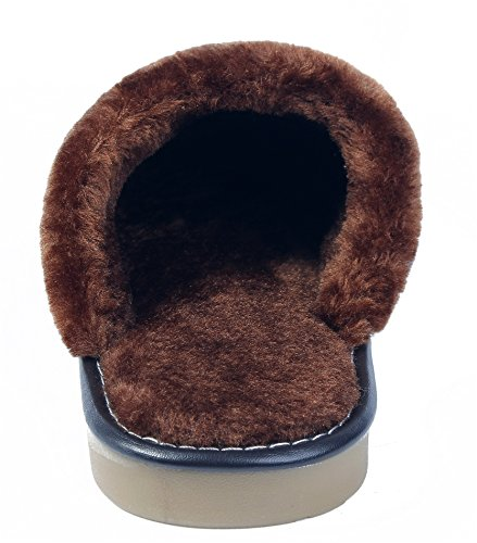 Schuhe Herren PU Warm Hausschuhe Mules Slipper Erwachsene Unisex AgeeMi Damen Kaffee wAUxdq4EwH
