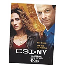--PRINT AD-- With Gary Sinese For CSI NYTV Show Promotional --PRINT AD--