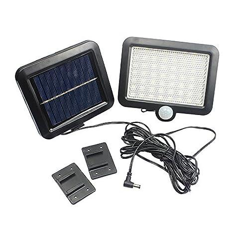 OurLeeme 56 Leds con energÃa solar lámpara de pared al aire libre del LED