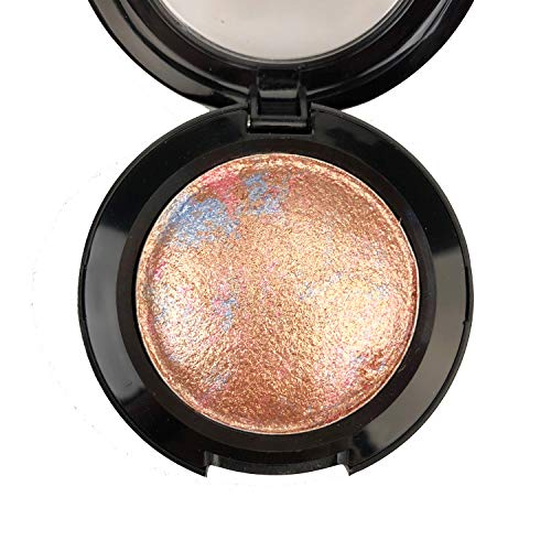 Mallofusa Single Shade Baked Eye Shadow Powder Palette Eye Makeup Kit in Shimmer 15 Metallic Colors Optional (Copper)