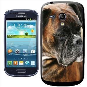 Fancy A Snuggle - Carcasa rígida para Samsung Galaxy S3 Mini i8190, diseño de cara de bóxer