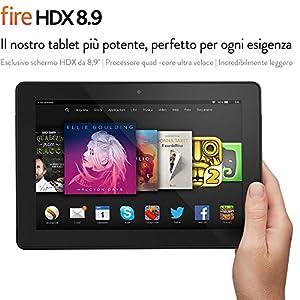 "Fire HDX 8.9, schermo HDX da 8,9"", Wi-Fi e 4G, 64 GB"