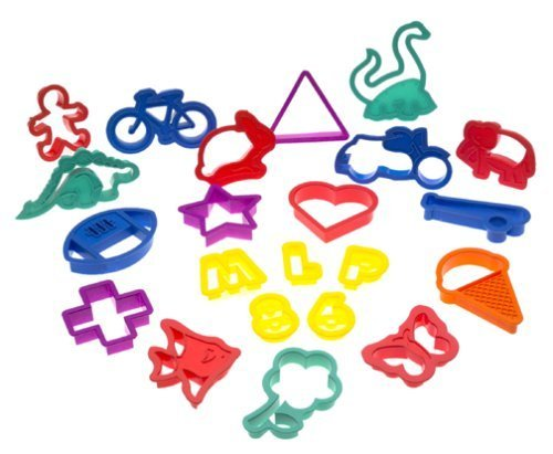 Roshco 100-Piece Plastic Cookie Cutter Set by Roshco