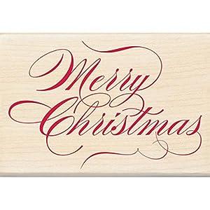 Amazon.com: Inkadinkado Wood Stamp, Merry Christmas