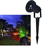 KINGCOO Christmas Laser Lights Projector, Red and Green Waterproof Laser Landscape Projector Light Spotlights Holiday Laser Light For Christmas Decoration and Outdoor Decorating with Remote Control